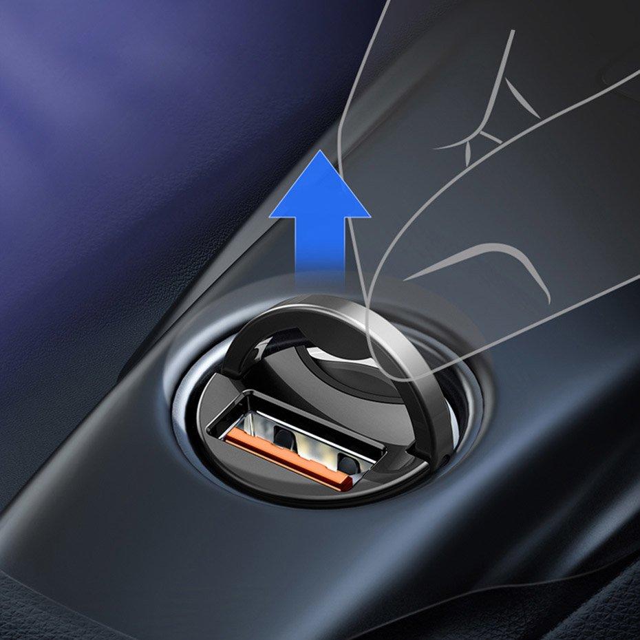 Baseus Tiny Star Mini PPS Car Charge Type-C Port 30W Pink (VCHX-B04)