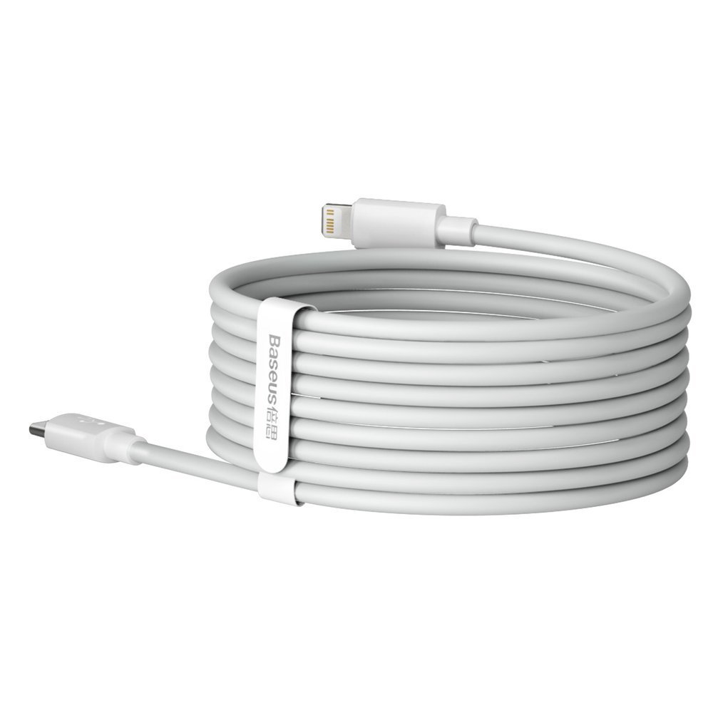 Baseus 2x set USB Typ C - Lightning cable fast charging Power Delivery 20 W 1,5 m white (TZCATLZJ-02)