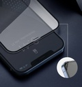Baseus 2x Full screen 0,23 mm tempered glass with a frame iPhone 12 mini Black (SGAPIPH54N-PE01)