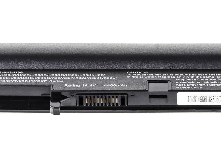 Green Cell Battery for Asus U32 U32U X32 U36 U36J U36S (black) / 14,4V 4400mAh
