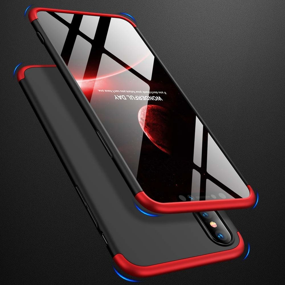 GKK 360 Protection Case Front and Back Case Full Body Cover iPhone XS Max black-red