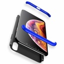 GKK 360 Protection Case Front and Back Case Full Body Cover iPhone XR black-blue
