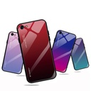 Gradient Glass Durable Cover with Tempered Glass Back iPhone SE 2020 / iPhone 8 / iPhone 7 green-purple