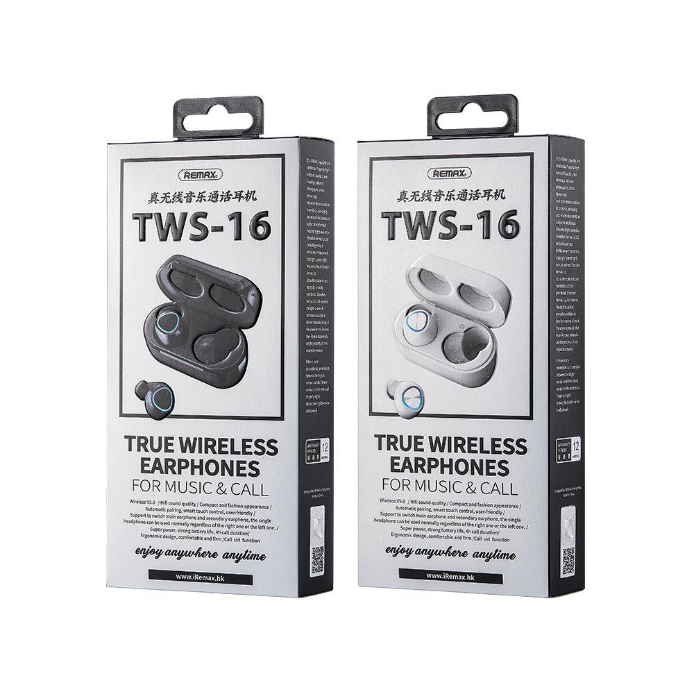 Remax mini wireless earphone Bluetooth 5.0 TWS white (TWS-16 white)