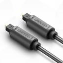 Ugreen digital optical audio fiber cable 1 m Toslink SPDIF gray (10768)