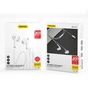 Dudao in-ear earphone USB Type C headset with remote control white (X14T white)