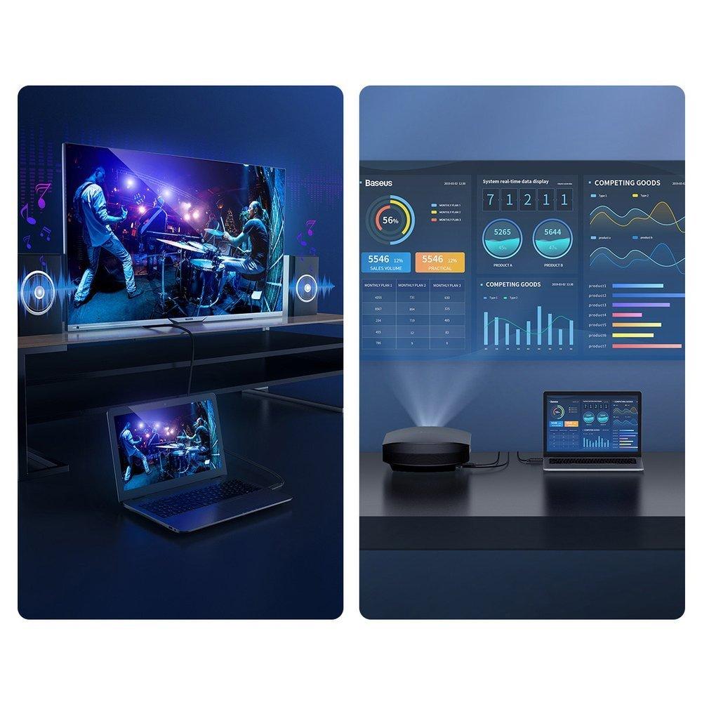 Baseus HDMI 2.0 cable 4K 60 Hz 3D HDR 18 Gbps 2 m black (CAKGQ-B01)