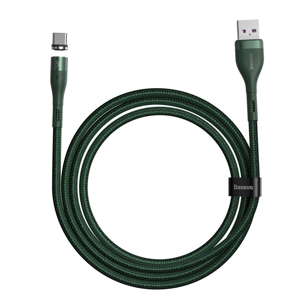 Baseus Zinc magnetyczny kabel USB - USB Typ C (ładowanie 5 A / dane 480 Mbps) Quick Charge AFC 1 m