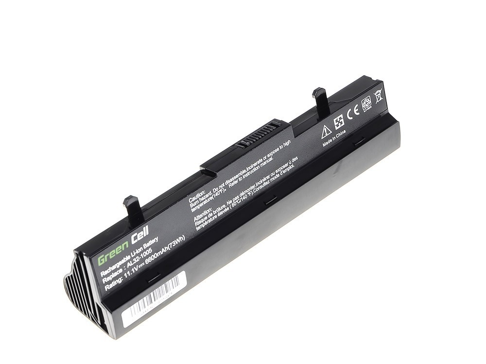 Green Cell Battery for Asus Eee-PC 1001 1001P 1005 1005P 1005H (black) / 11,1V 6600mAh
