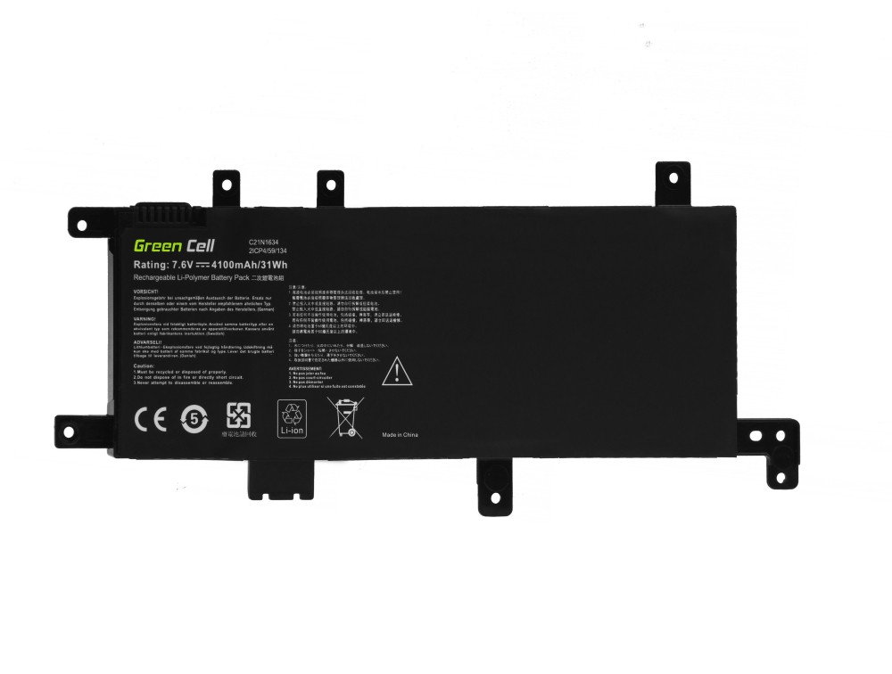 Battery Green Cell C21N1634 for Asus F542 F542U F542UQ VivoBook 15 R542 R542U R542UA R542UF R542UQ X542 X542U X542UA X542UF