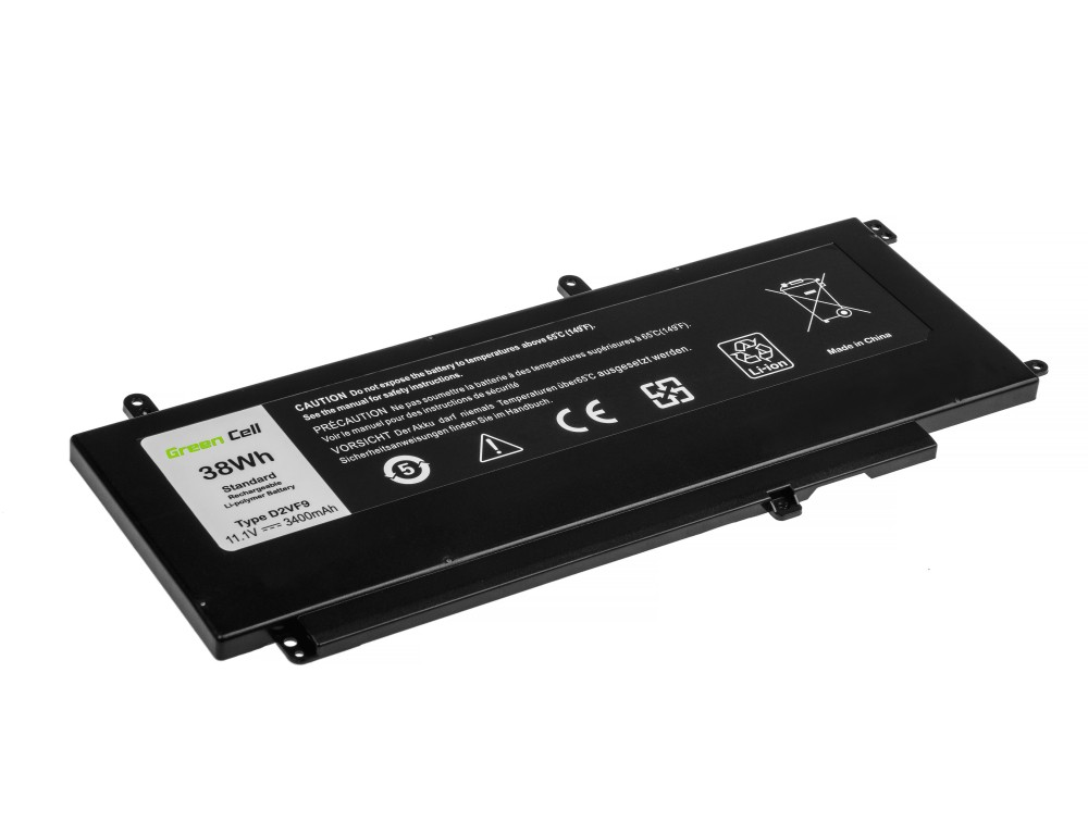 BAttery Green Cell D2VF9 for Dell Inspiron 15 7547 7548 Vostro 14 5459