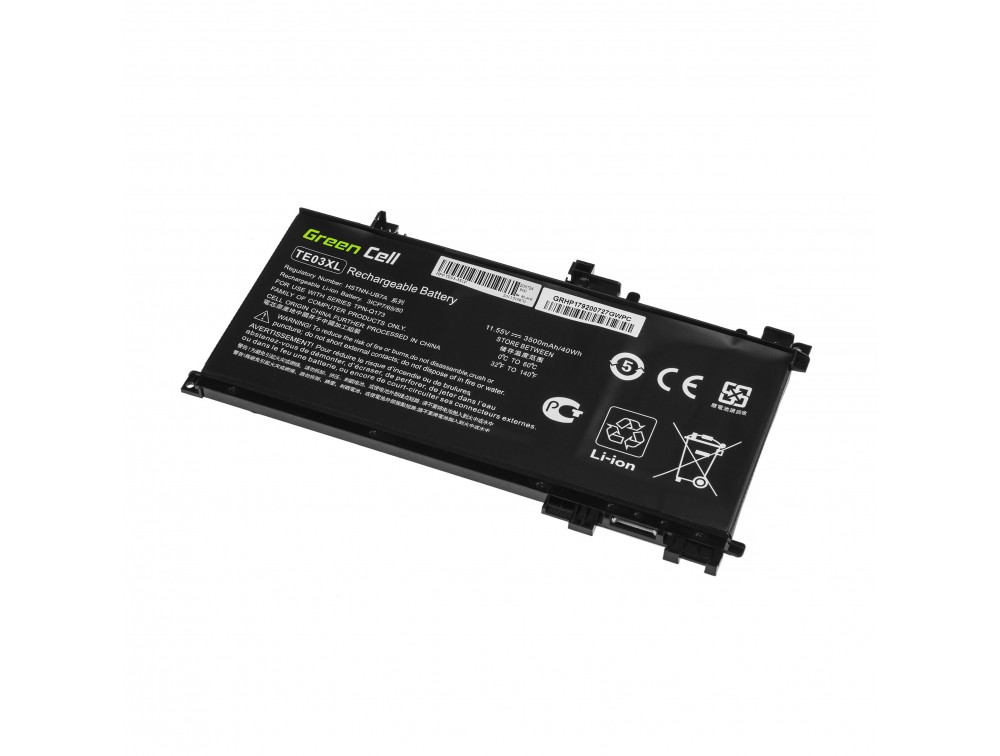 Battery Green Cell TE03XL for HP Omen 15-AX052NW 15-AX055NW 15-AX075NW 15-AX099NW, HP Pavilion 15-BC402NW 15-BC408NW 15-BC411NW
