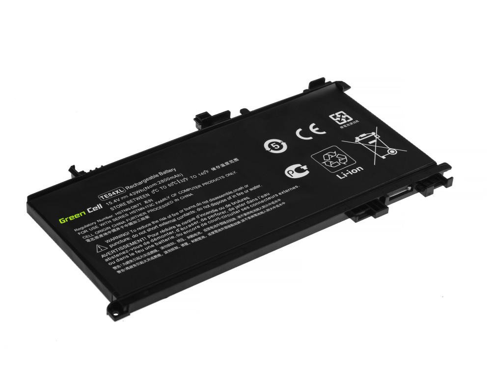 Battery Green Cell TE04XL for HP Omen 15-AX202NW 15-AX205NW 15-AX212NW 15-AX213NW, HP Pavilion 15-BC501NW 15-BC505NW 15-BC507NW