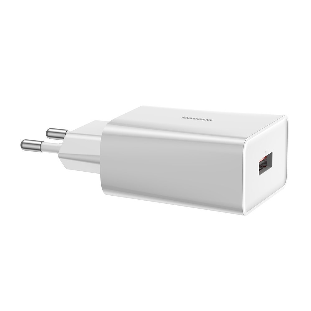 Baseus fast charge wall charger USB 18 W 3 A Quick Charge 3.0 white (CCFS-W02)