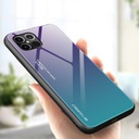 Gradient Glass Durable Cover with Tempered Glass Back iPhone 12 Pro Max green-purple