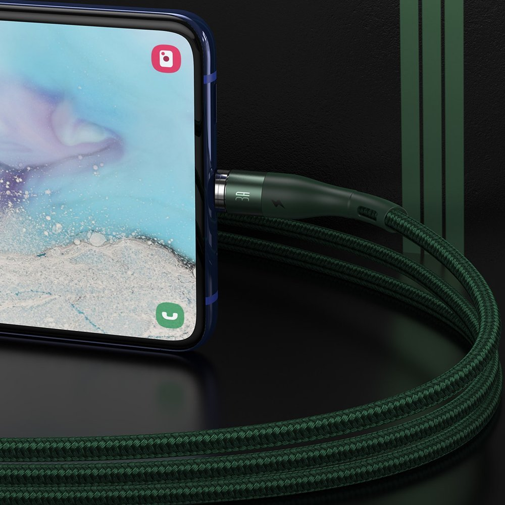 Baseus Zinc USB - micro USB magnetic data charging cable 1 m 2,1 A green (CAMXC-K06)