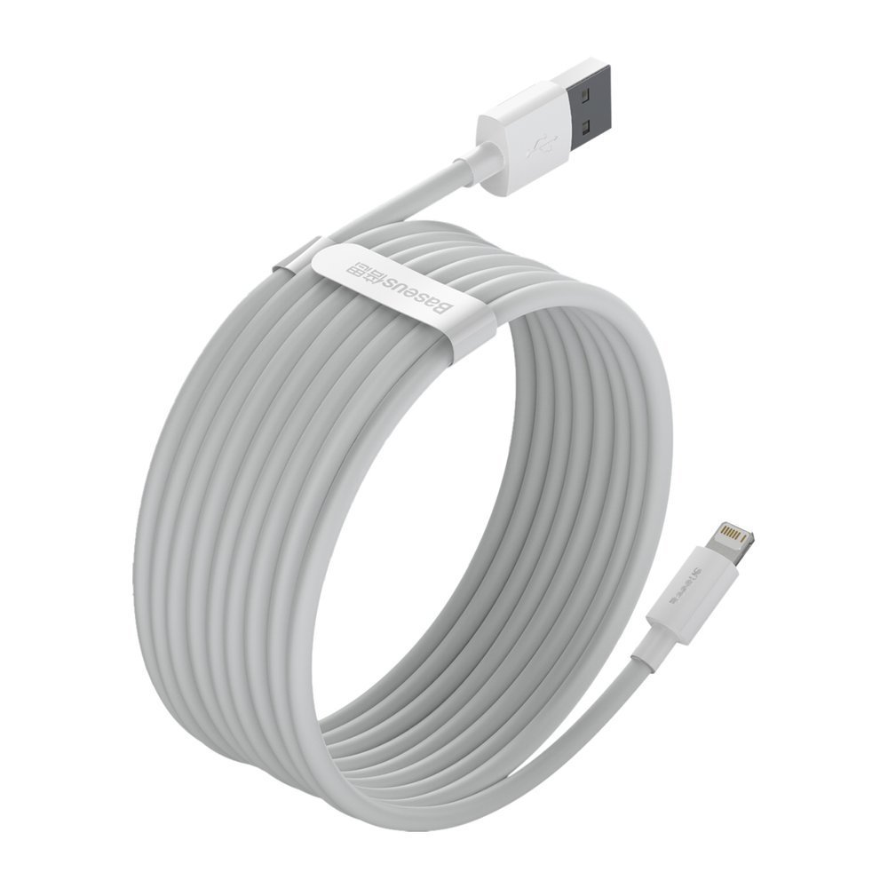 Baseus 2x set USB - Lightning cable fast charging Power Delivery 1,5 m white (TZCALZJ-02)