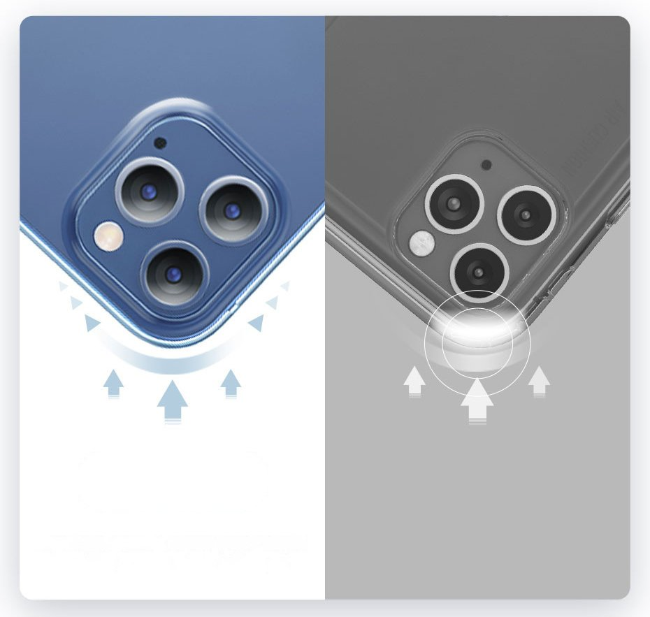 Baseus Simple Case Flexible gel case iPhone 12 Pro Max Transparent (ARAPIPH67N-02)