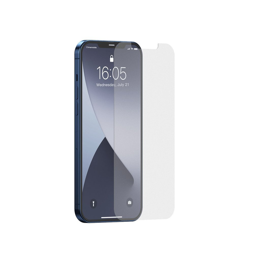 Baseus 2x 0,25 mm frosted tempered glass iPhone 12 Pro Max Transparent (SGAPIPH67N-LM02)