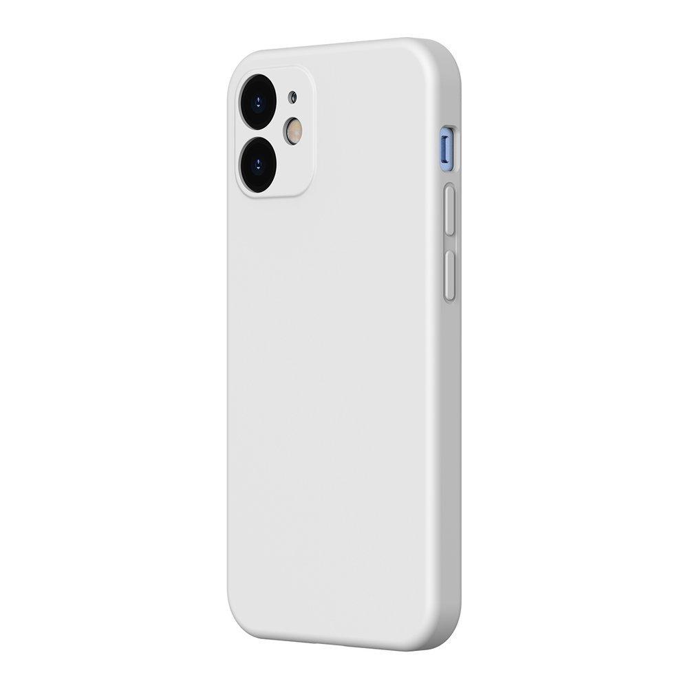 Baseus Liquid Silica Gel Case Flexible gel case iPhone 12 Pro / iPhone 12 Ivory white (WIAPIPH61N-YT02)