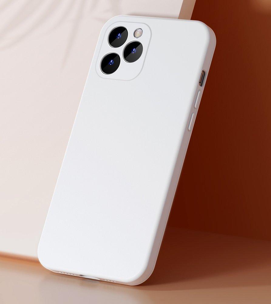 Baseus Liquid Silica Gel Case Flexible gel case iPhone 12 Pro Max Ivory white (WIAPIPH67N-YT02)