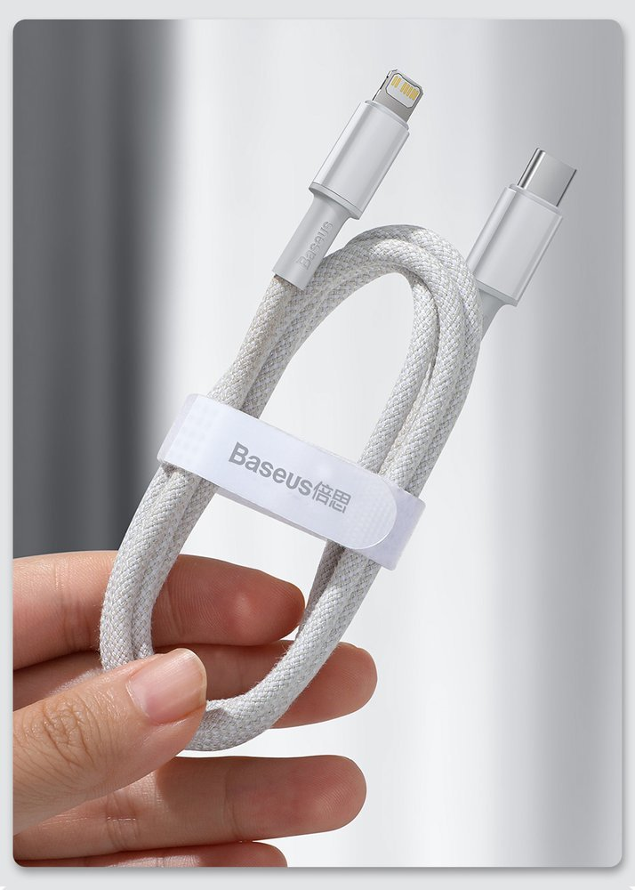 Baseus USB Type C - Lightning cable Power Delivery fast charge 20 W 2 m black (CATLGD-A01)