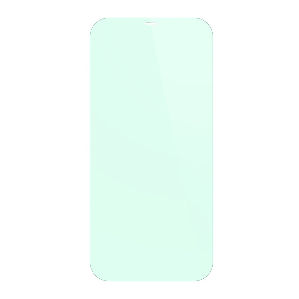 Baseus 2x 0,3 mm Eye Protection Full Coverage Green Tempered Glass Film with Anti Blue Light Filter for iPhone 12 Pro Max (SGAPIPH67N-LP02)