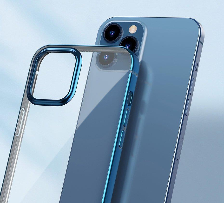 Baseus Shining Case Flexible gel case with a shiny metallic frame iPhone 12 Pro / iPhone 12 Moonlight silver (ARAPIPH61N-MD0S)