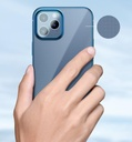 Baseus Shining Case Flexible gel case with a shiny metallic frame iPhone 12 Pro Max Navy blue (ARAPIPH67N-MD03)