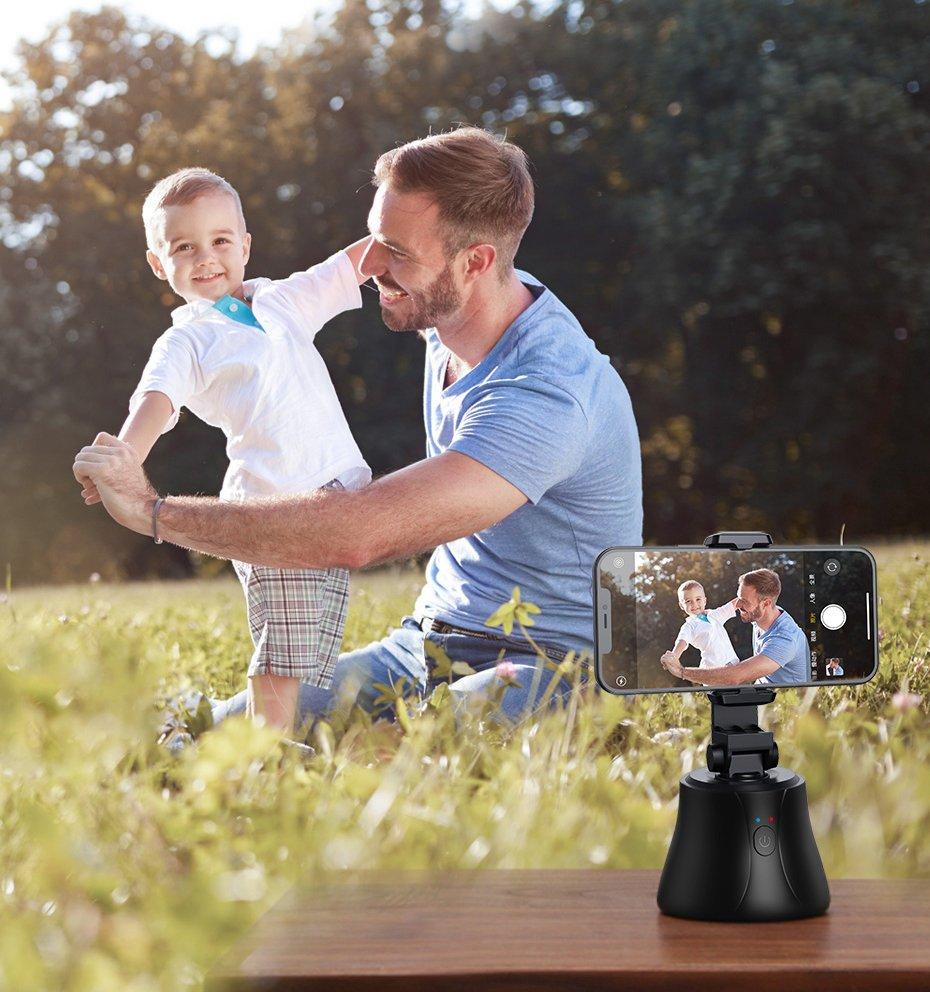 Baseus 360 rotation photo gimbal tripod portable phone holder for photos face tracking stabilizer YouTube TikTok white (SUYT-B02)