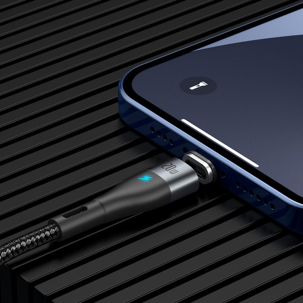 Baseus Zinc USB Type C - Lightning magnetic data charging cable Power Delivery 20 W 2 m black (CATLXC-A01)