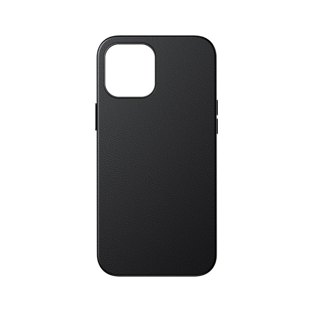 Baseus Magnetic Leather Case Soft PU leather Cover for iPhone 12 mini black (MagSafe compatible)