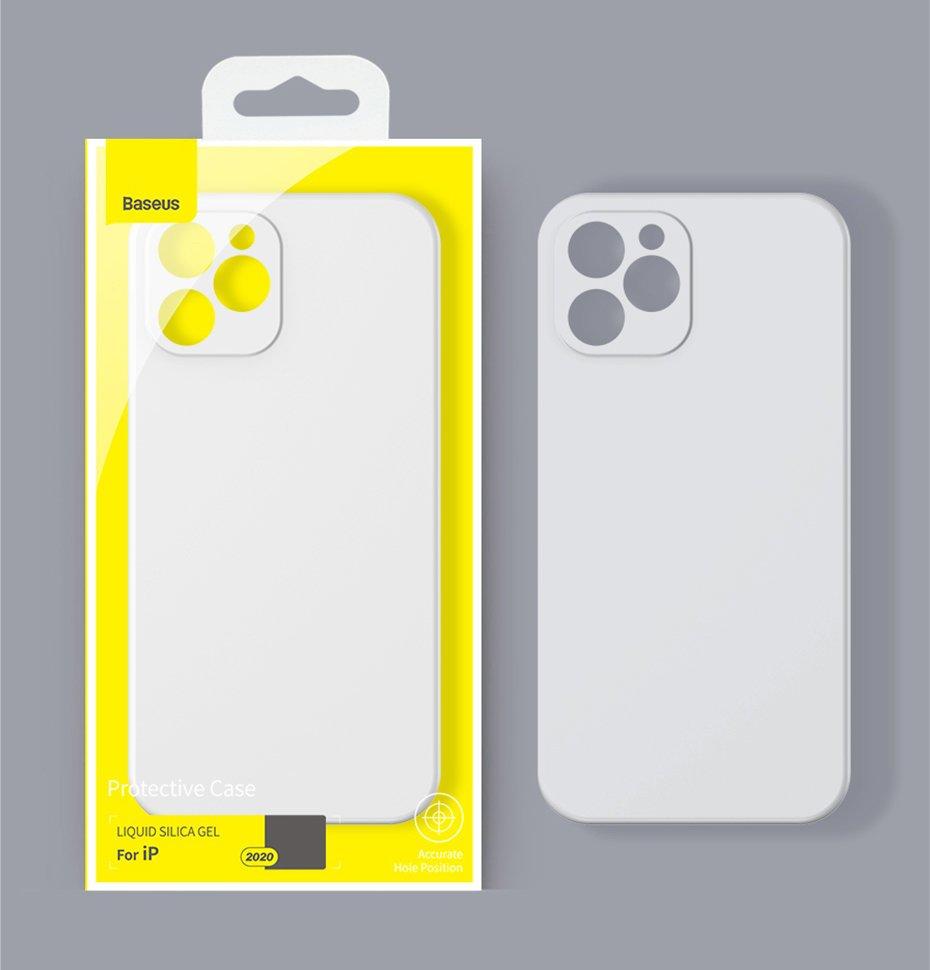 Baseus Liquid Silica Gel Case Flexible gel case iPhone 12 Pro Dark green