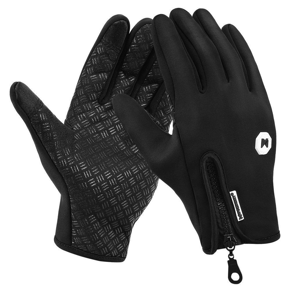 Wozinsky universal sport waterproof winter gloves - touch screen compatible black