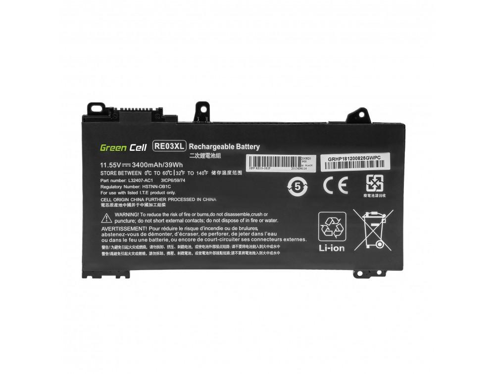 Battery Green Cell RE03XL for HP ProBook 430 G6 G7 440 G6 G7 445 G6 G7 450 G6 G7 455 G6 G7 445R G6 455R G6