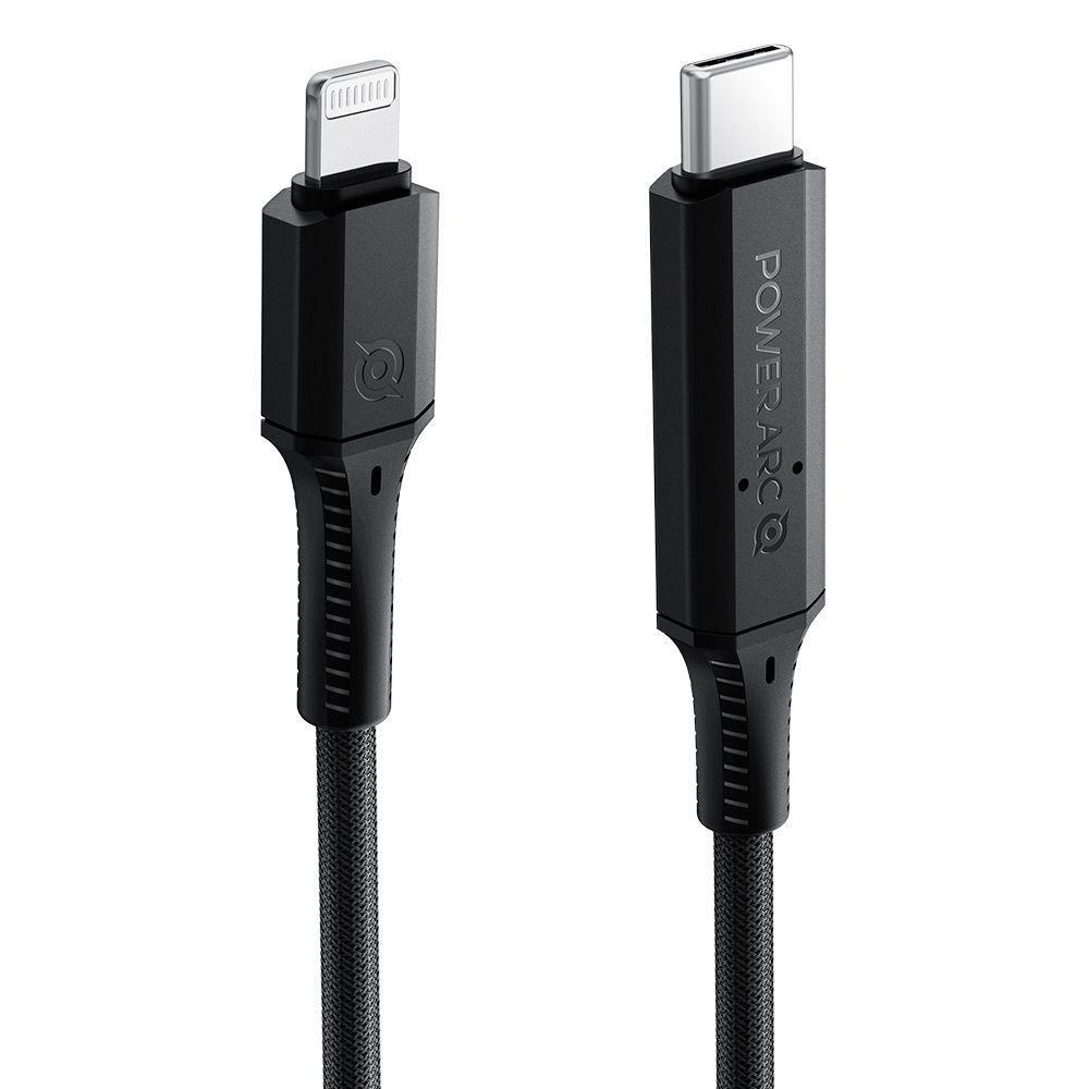 Spigen Pb1901 Powerarc Lightning Mfi Cable Pd100w/2a 100cm Black