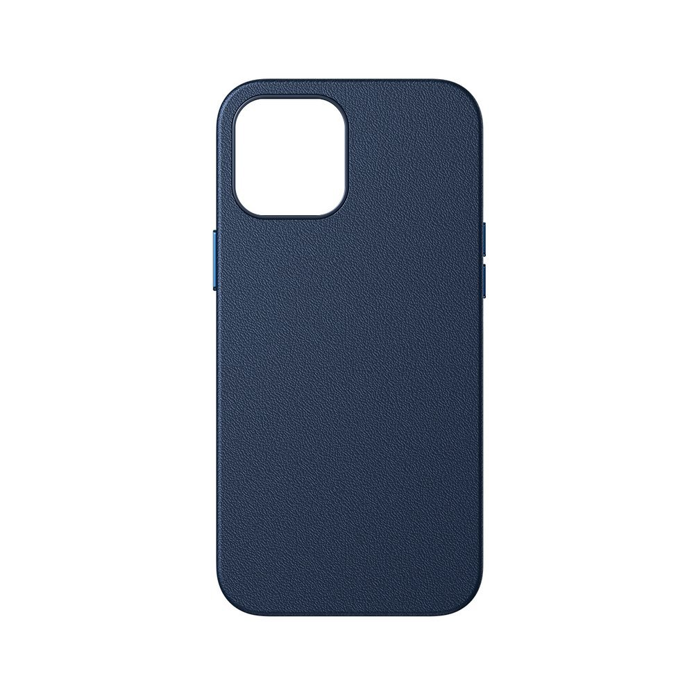 Baseus Magnetic Leather Case Soft PU leather Cover for iPhone 12 mini blue (MagSafe compatible)