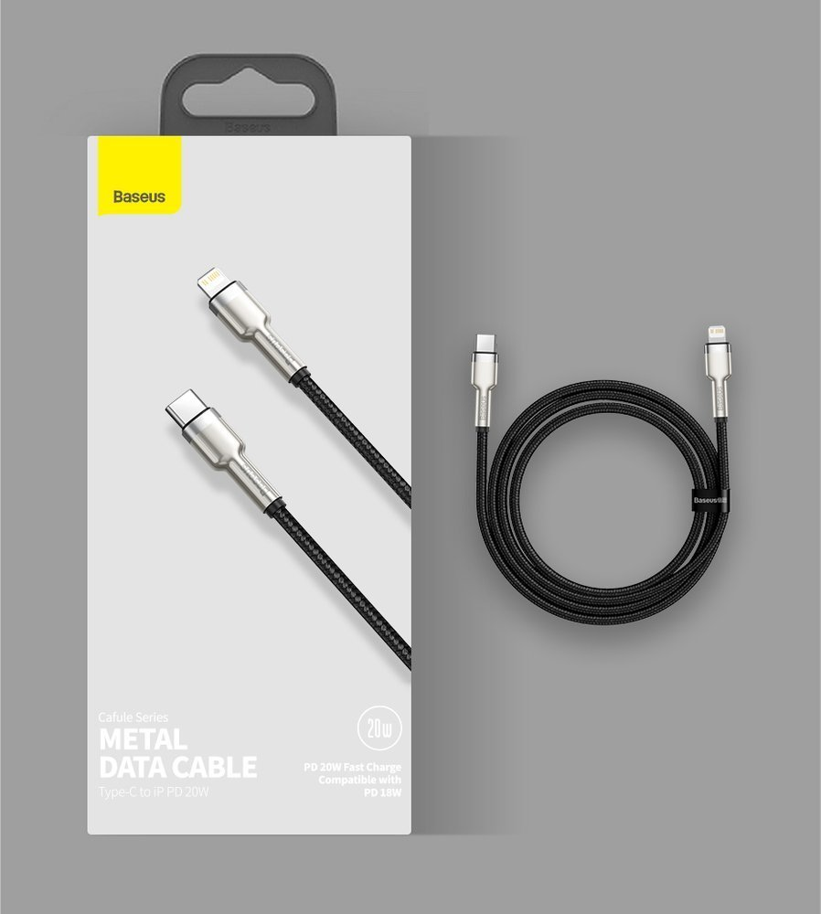 Baseus Cafule Series Metal Data Cable Type-C to iP PD 20W 1m