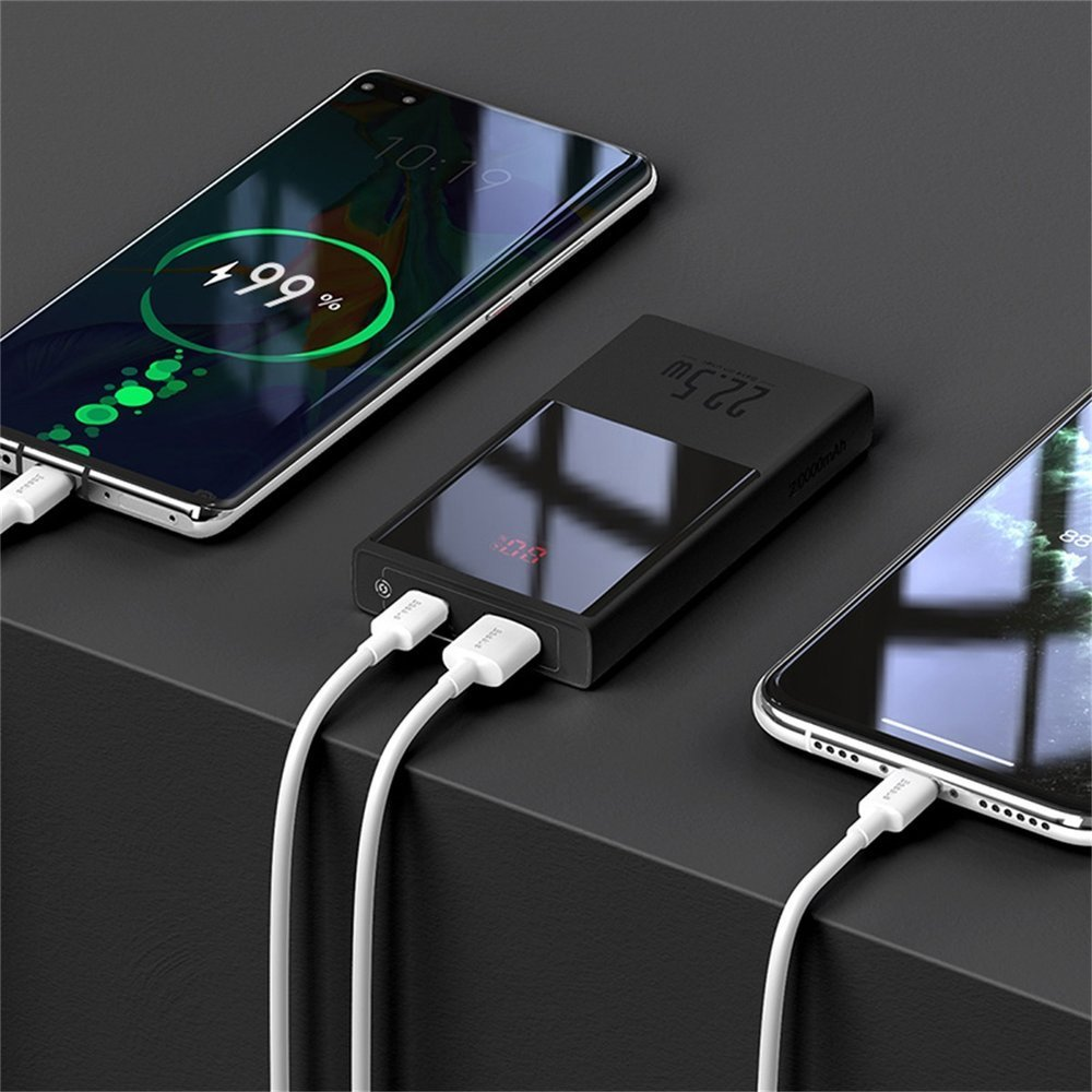 Baseus power bank 20000 mAh 22,5 W USB Type C / USB Power Delivery Quick Charge SCP AFC + USB - USB Type C cable