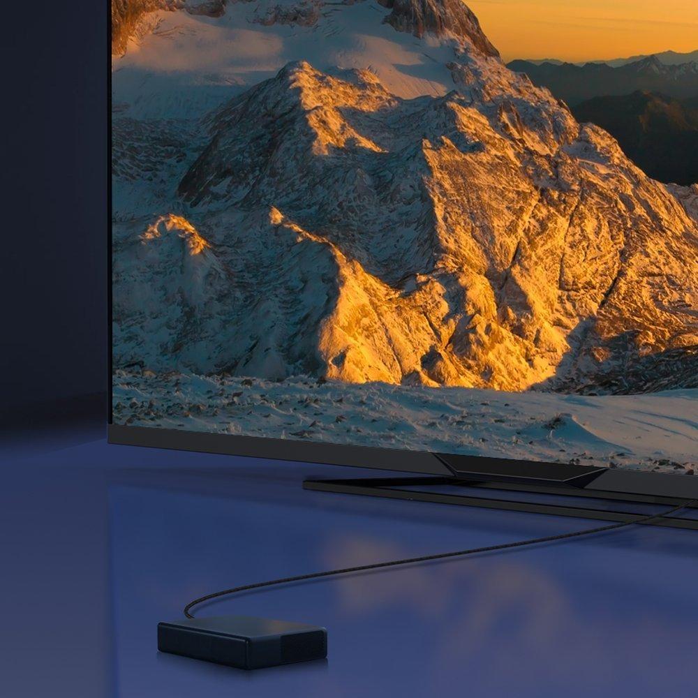 Baseus HDMI 2.1 cable 8K 60 Hz 48 Gbps / 4K 120 Hz / 2K 144 Hz 3D eARC QMS Dynamic HDR VRR ALLM 1 m black