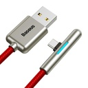 Baseus Iridescent Lamp HW flash charge Mobile Game USB For Type-C 40W 2m Red