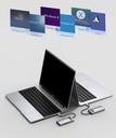 Baseus Metal Gleam 4in1 multifunctional HUB USB Type C - USB Type C Power Delivery 100 W / HDMI 4K 30 Hz / 1x USB 3.2 Gen 1 / 1x USB 2.0