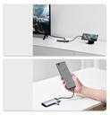 Baseus Metal Gleam Series 5-in-1 Multifunctional HUB USB Type C - USB Type C Power Delivery 100 W / HDMI 4K 30 Hz / 3x USB 3.2 Gen 1