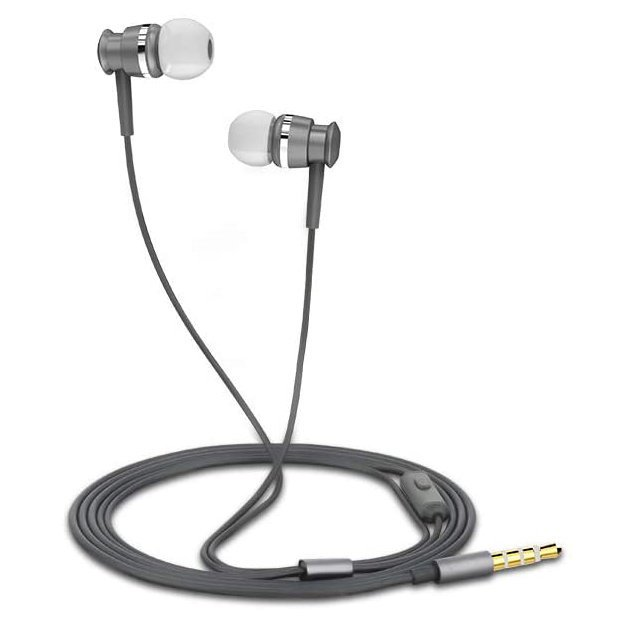 Joyroom in-ear earphones 3.5mm mini jack with remote and microphone gray