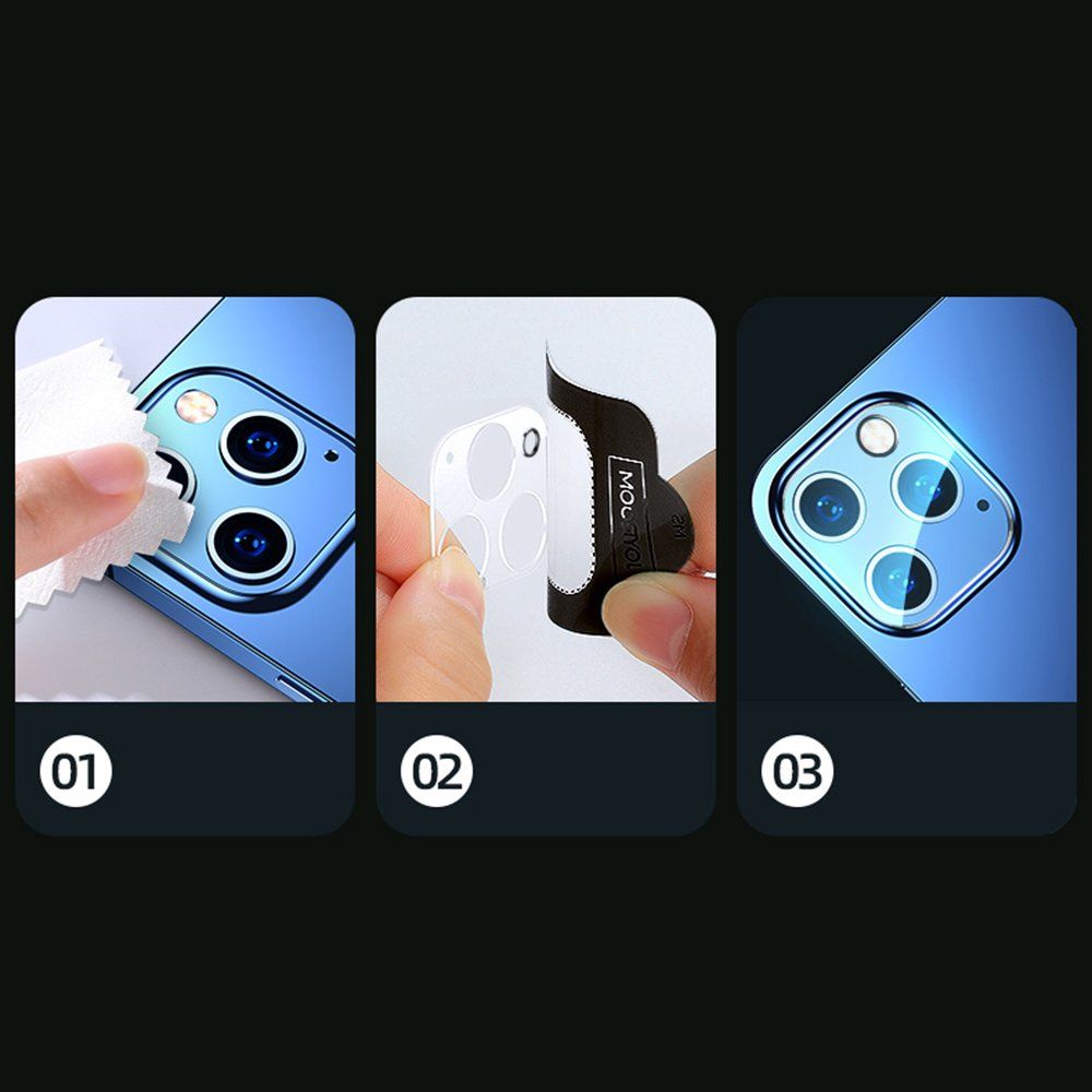 Joyroom Mirror Series full lens protector camera tempered glass for iPhone 12 Pro transparent