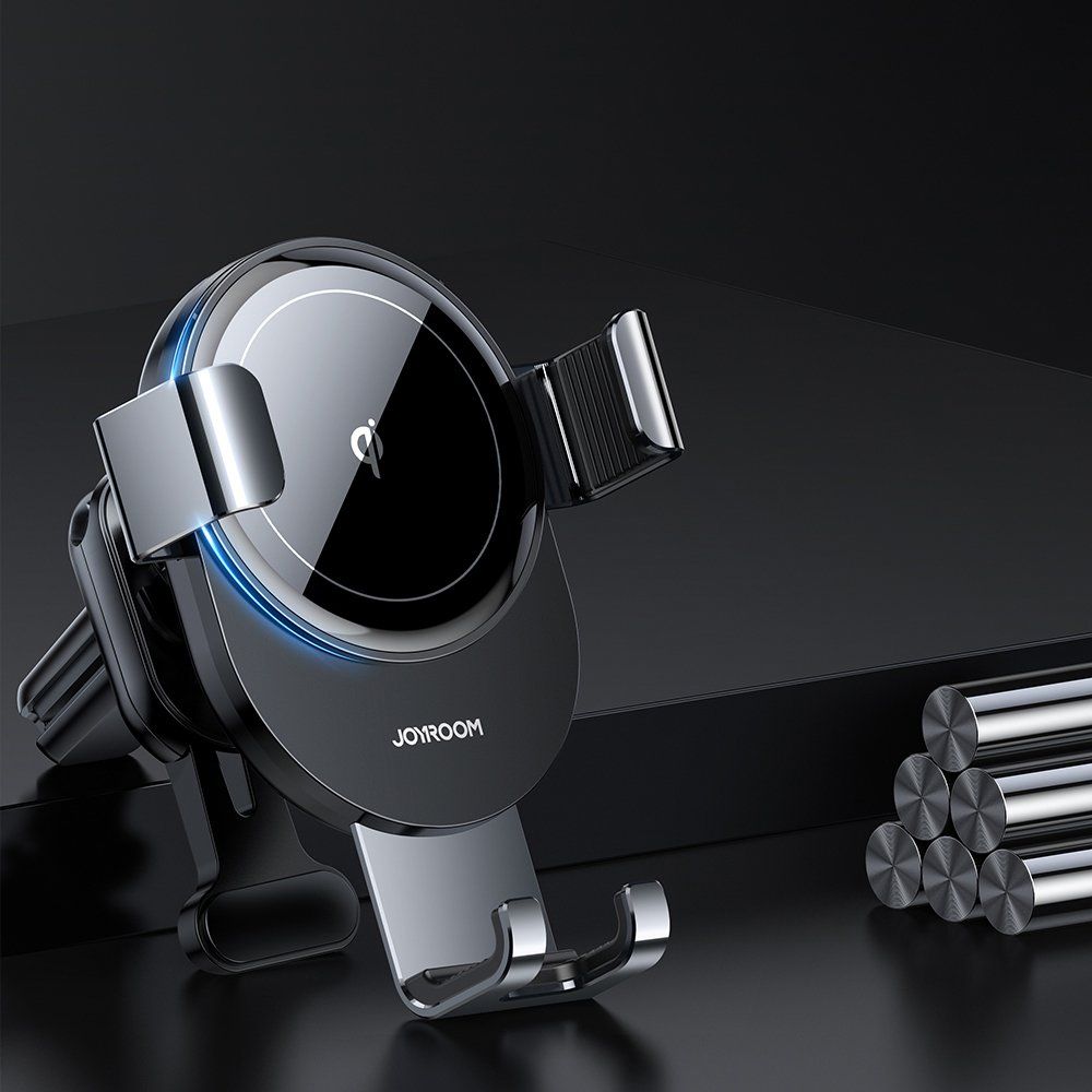 Joyroom Qi wireless 15 W car charger gravity phone holder (dashboard) gray