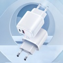 Joyroom fast wall charger USB Type C / USB 20 W 3 A Power Delivery Quick Charge 3.0 white