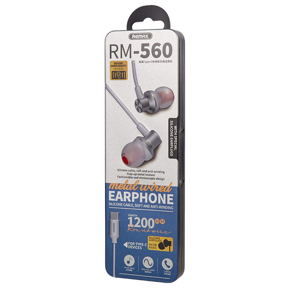 REMAX Metal Wired Earphone for Type-C RM-560