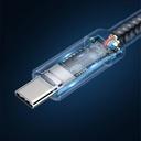 Baseus Cafule Cable Nylon Braided Wire USB-C PD PD3.1 100W 20V/5A QC3.0 1M gray