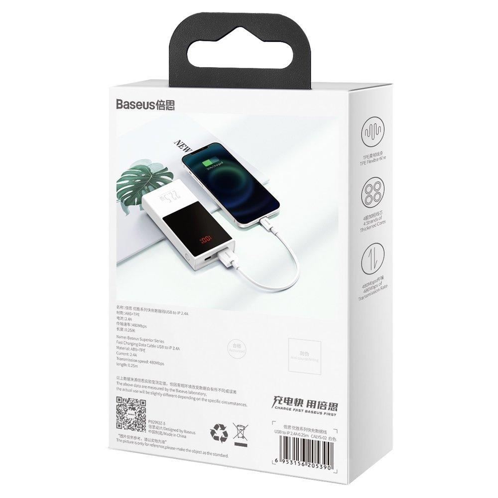 Baseus Superior Cable USB - Lightning 2,4A 0,25 m